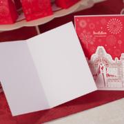 Пригласительные на свадьбу красно – белые