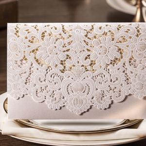 Свадебные приглашения белые кружевные