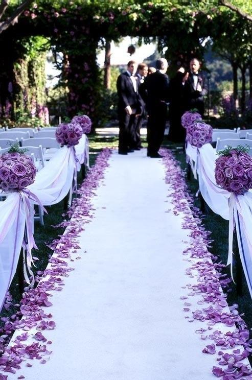 Фиолетовая свадьба оформление