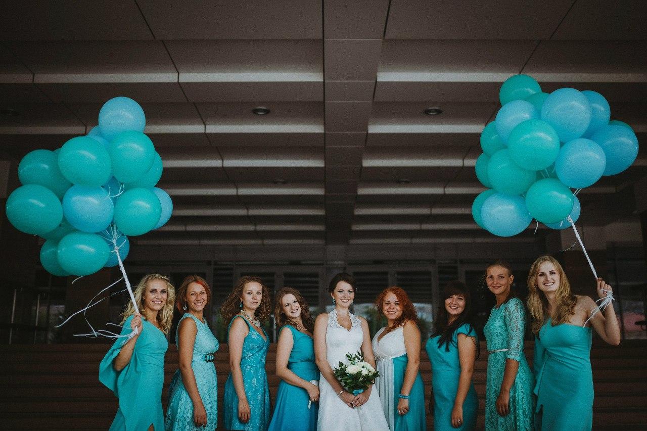 Платья подружки невесты бирюзового цвета