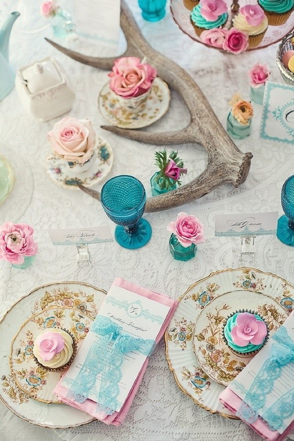 Свадебный стол бирюзовый