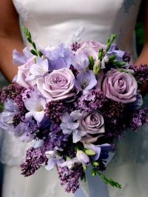 Свадебный букет фиолетовый фото