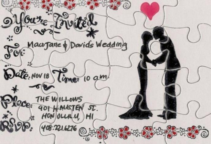 Свадебные приглашения пазл